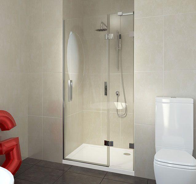 8mm Frameless Hinged Shower Door 760mm V10121097 Scene Square