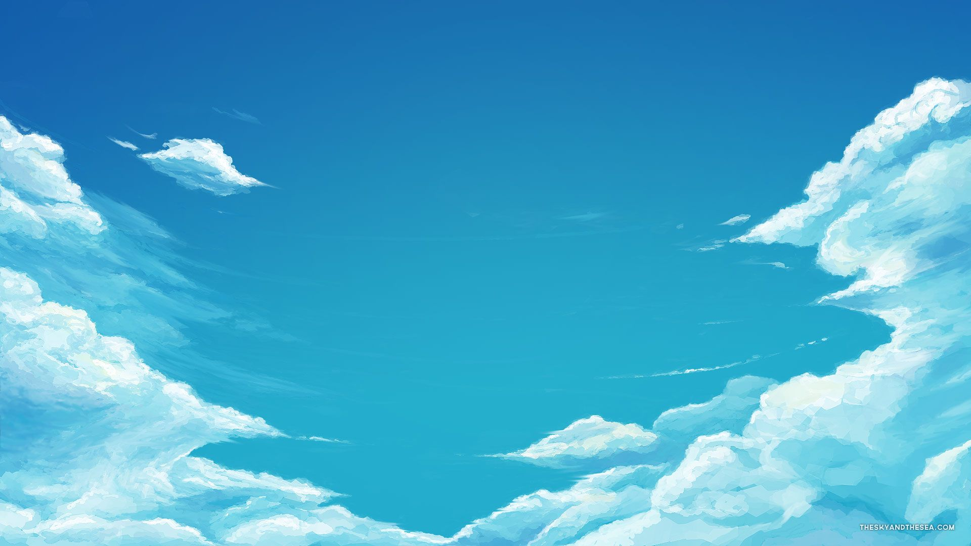 Cartoon Blue Sky Hd Wallpaper Wallpaper List Sky anime