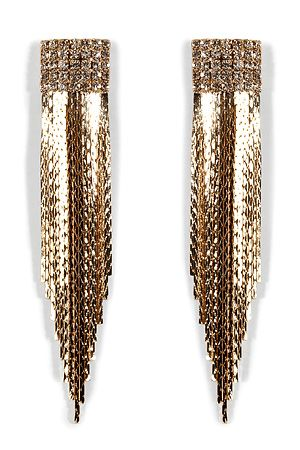 R.J.GRAZIANO  Gold-Toned Fringed Crystal Earrings