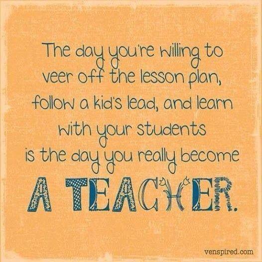Know your a teacher