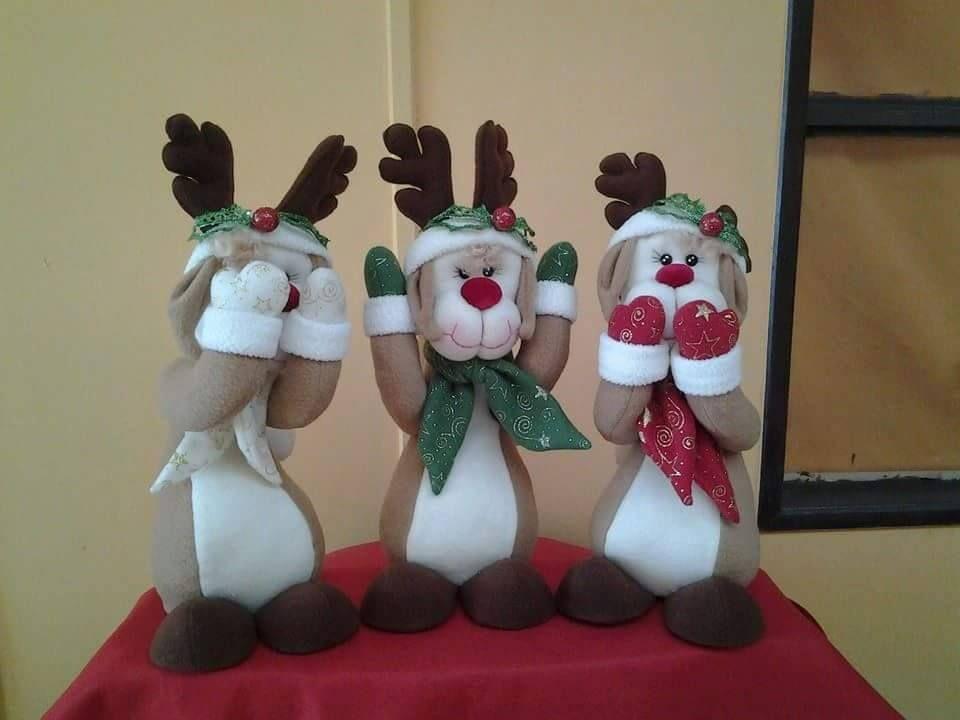 Renos sabios masilla costura de navidad mu ecos for Manualidades renos navidenos