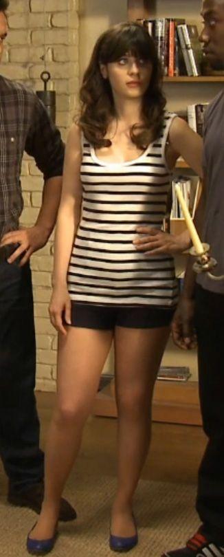 Zooey Deschanel Tights Shorts Zooey Deschanel's blac...