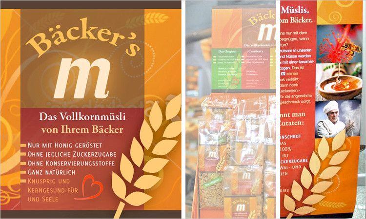 vivia: Corporate Design, Branding und Druckmedien für Bäcker's M