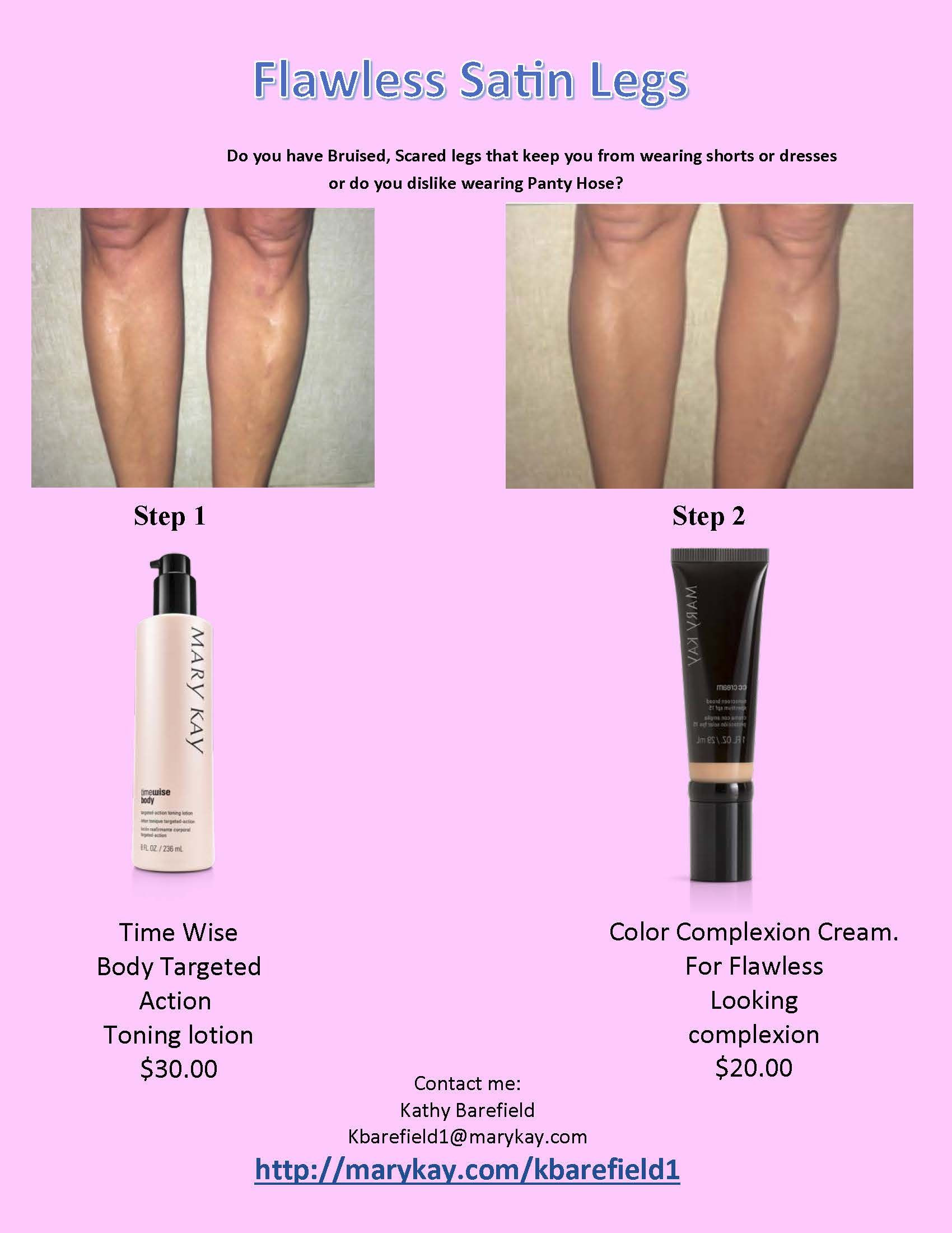 Cover Bruises, cover varicose veins, Have smooth looking