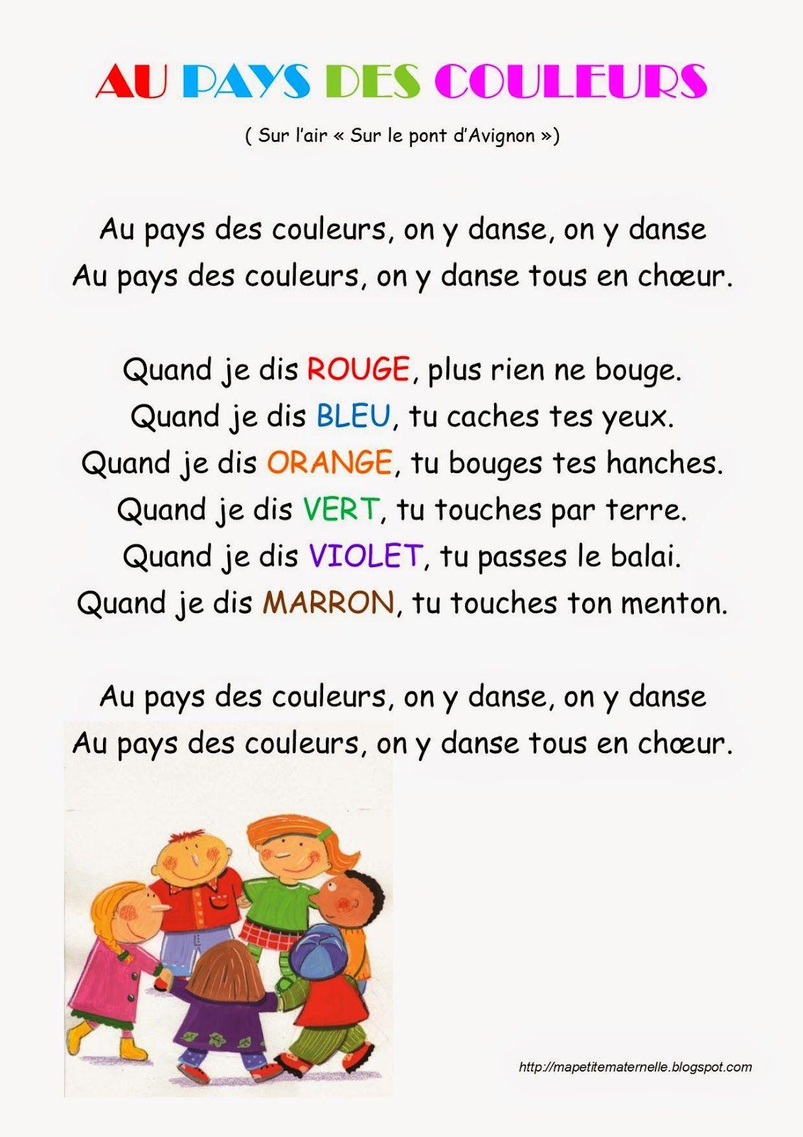 Ma petite maternelle comptine 22 au pays des couleurs for Le jardin voyageur maternelle