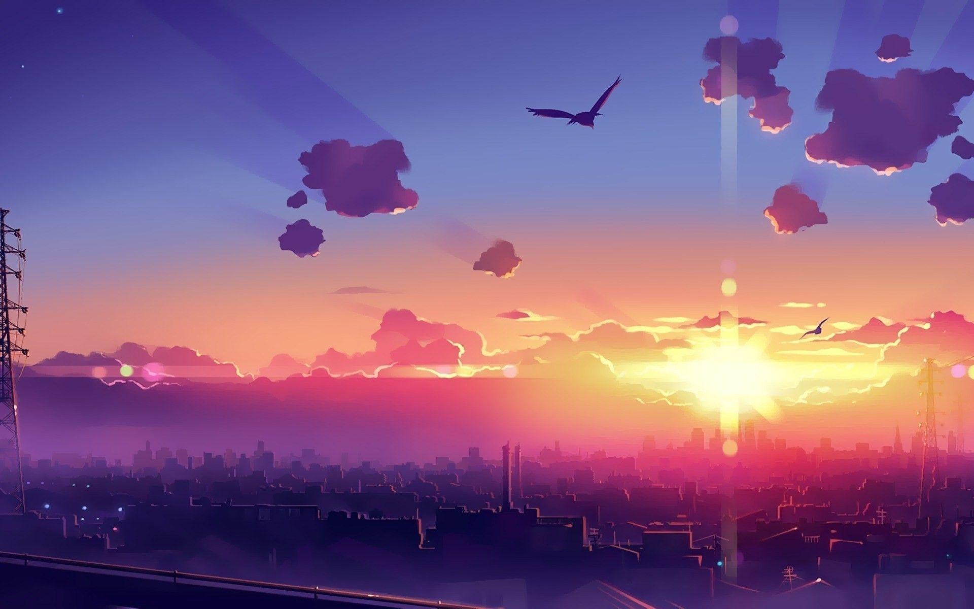 Anime Wallpapers Backgrounds Anime Scenery Wallpaper Sunrise