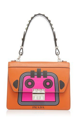 cecf3286b7 City Calf and Saffiano Bag with Robot by Prada Fall Winter 2018