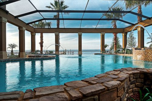 Indoor Pool At My Fantasy Beach House Poolside Living Pinterest Indoor Pools Covered Pool