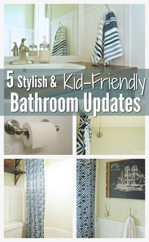 5 Stylish + Kid Friendly Bathroom Updates By Lost and Found Decor #furniture #paintedfurniture #homedecor #diy #diyhomedecor #furnituremakeover