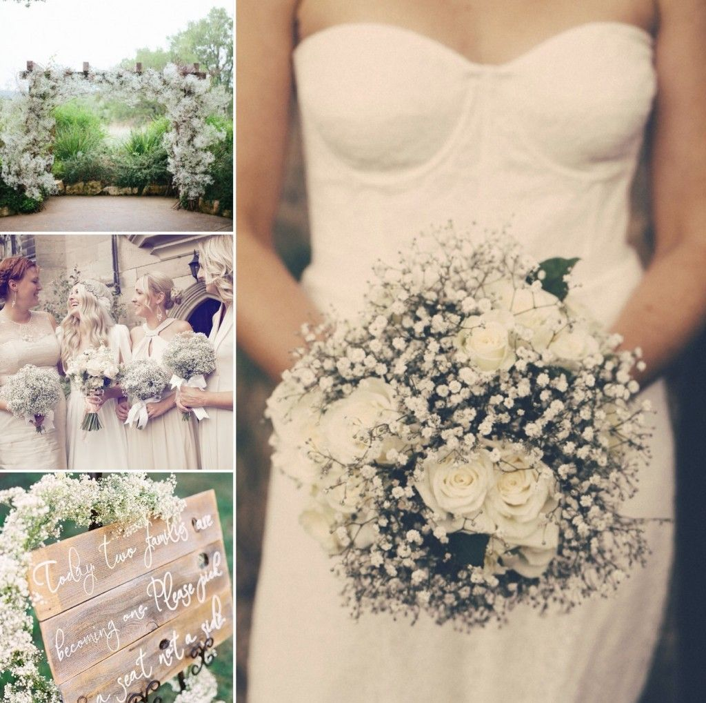 Gypsophilia And White Roses Wedding Bouquet I Got You Photography Are Available For Scottish Brides In February