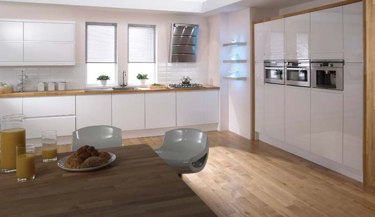 White Gloss Kitchen From Homebase House In 2018 Pinterest