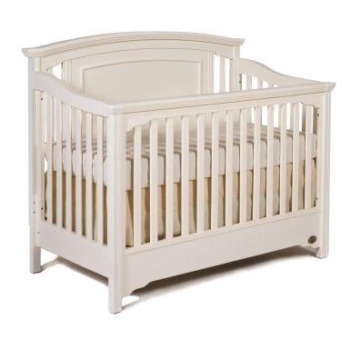 Capretti Veneto Collection Convertible Crib in Snowdrift ...