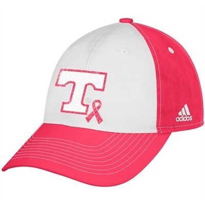 adidas Tennessee Volunteers Ladies Breast Cancer Awareness Slouch Adjustable  Hat - White Pink 2a0eed35c