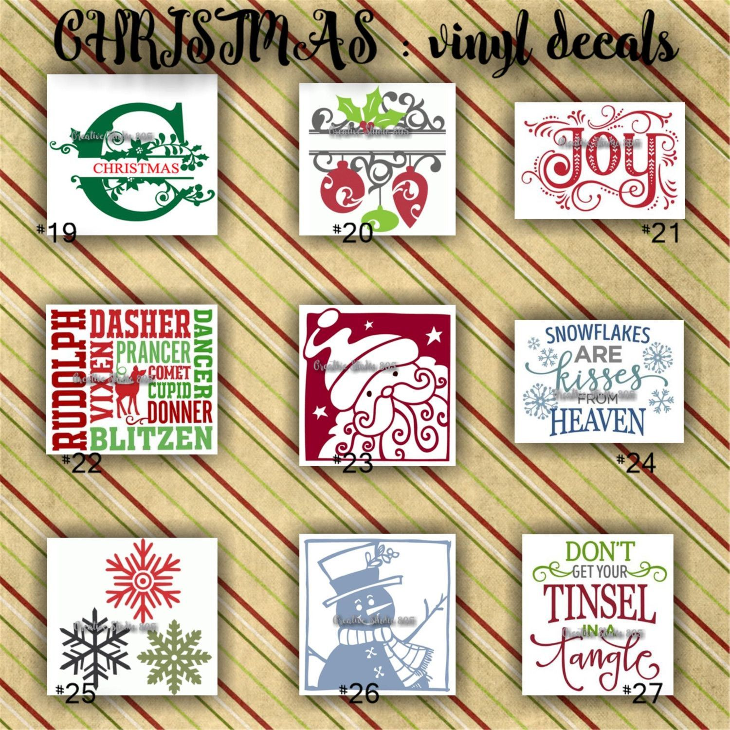 CHRISTMAS vinyl decals | christmas decoration | decal | sticker ...