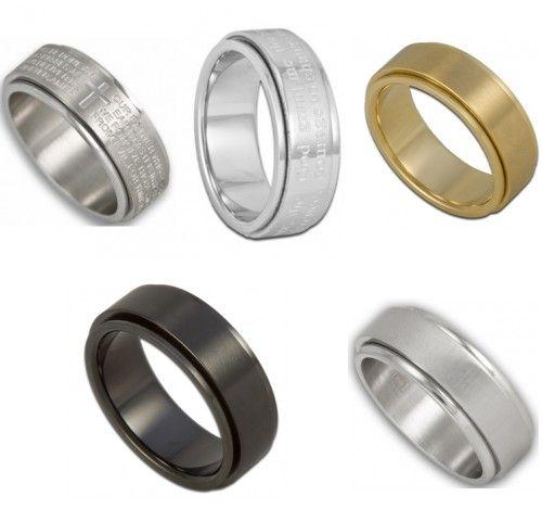 Stainless Steel Spinner Rings Lords Prayer Ring Serenity Prayer Ring Gold Spinner Ring Stainless Steel Wedding Bands Affordable Rings Serenity Prayer Ring