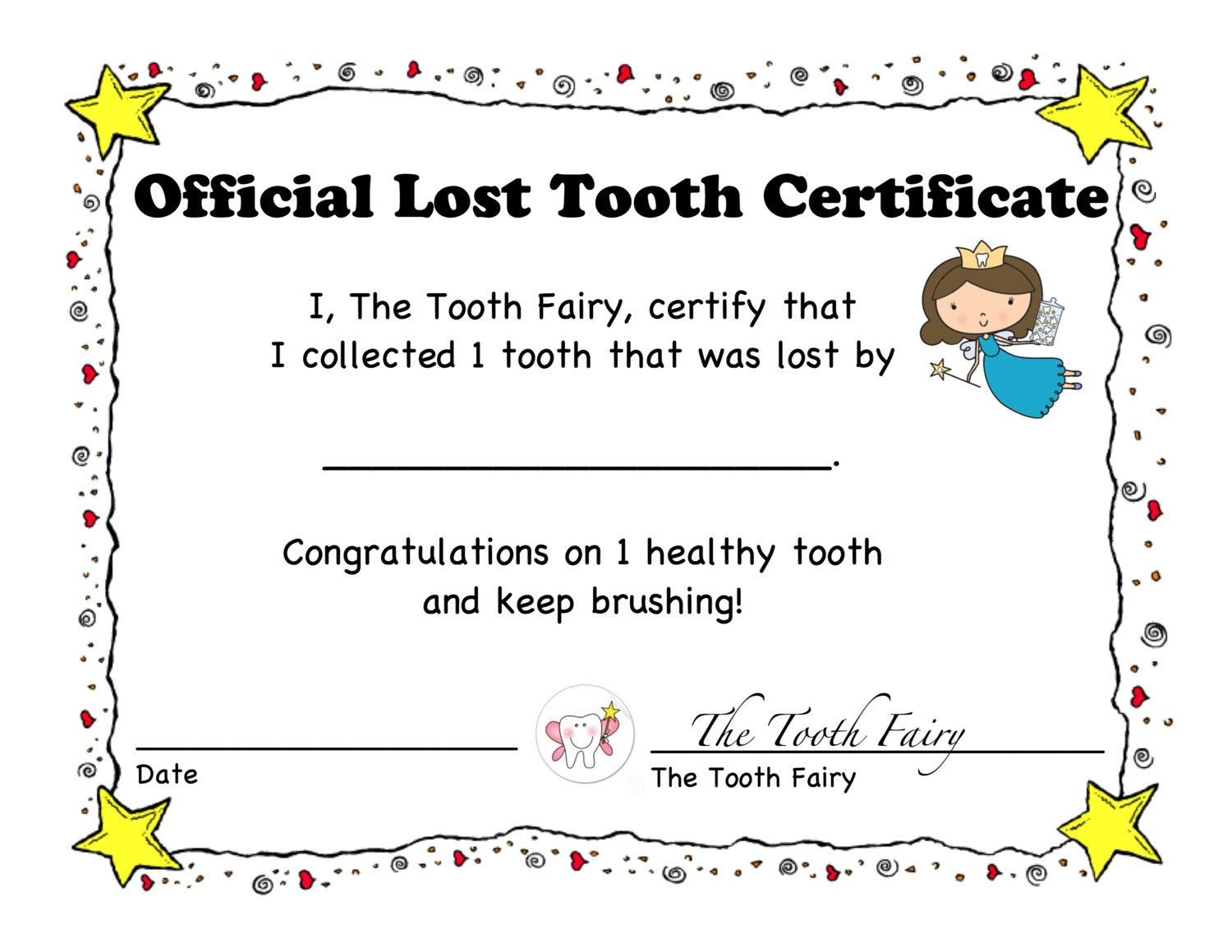 A personal favorite from my etsy shop httpsetsylisting a personal favorite from my etsy shop httpsetsylisting2295964421st lost tooth certificate and letter spiritdancerdesigns Image collections