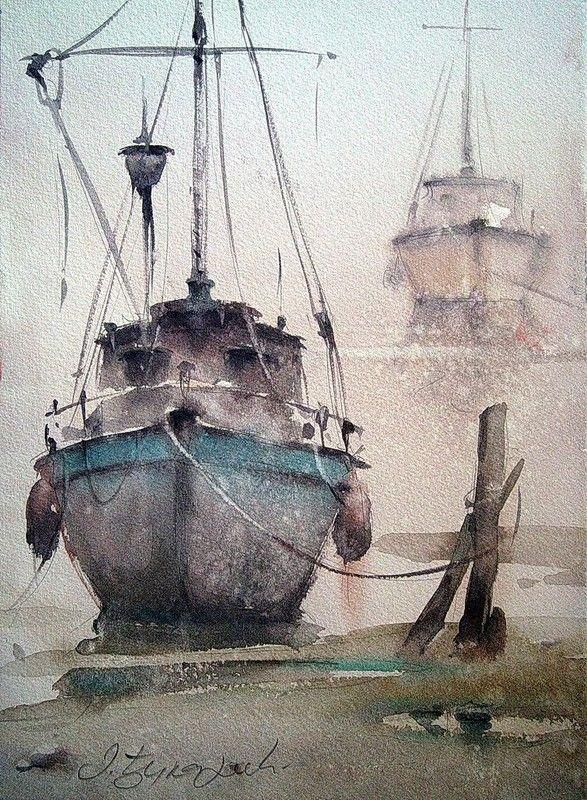 Barques Et Bateaux Page 2 Peinture Bateau Peinture Paysage Et
