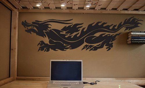 Vinyl Wall Art Decal Sticker Chinese Dragon 60x17 5ft Long 230A ...