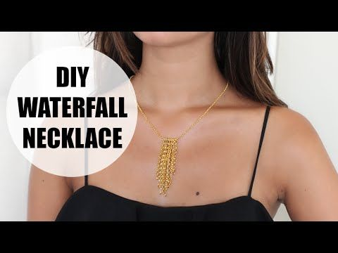 DIY waterfall necklace - YouTube