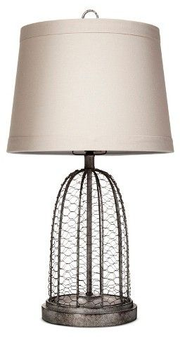 Merveilleux Adorable Chicken Wire Farmhouse Lamp, Under $50! Beekman 1802 FarmHouse  Baiter Table Lamp Gray Wire   Beekman #affiliate #lamp #FarmHouse