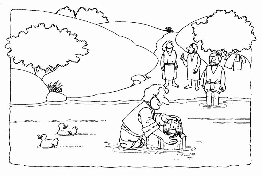 28 Lds Baptism Coloring Page Jesus Coloring Pages