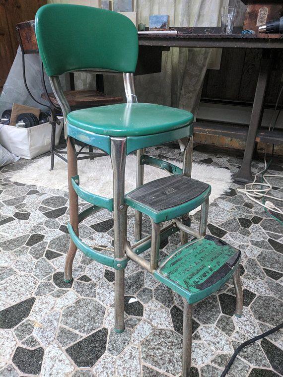 Vintage Kitchen Step Stool Chair Kitchen step stool
