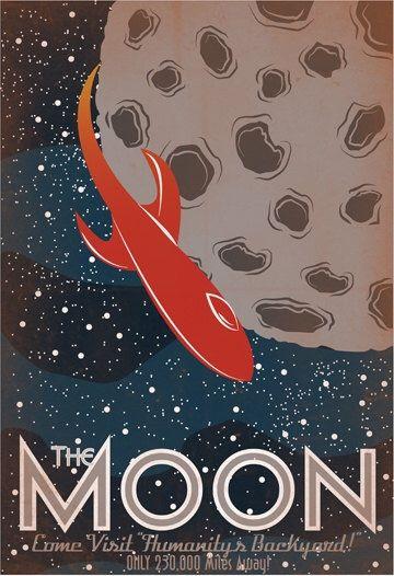 Explore Mars Vintage Space Travel Poster Multiple Sizes