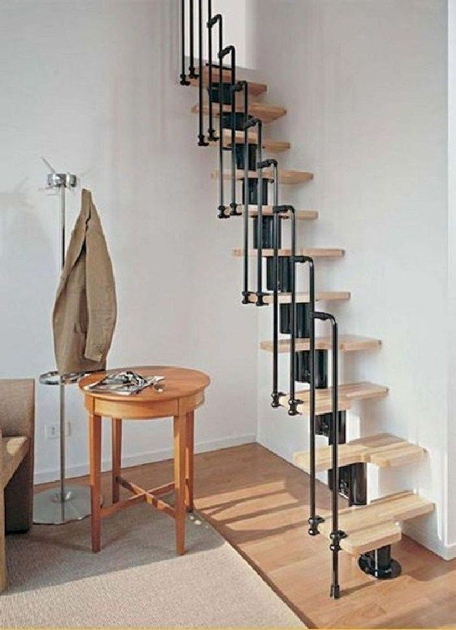 Best Cool Loft Stair Design Ideas for Space Saving (1) images