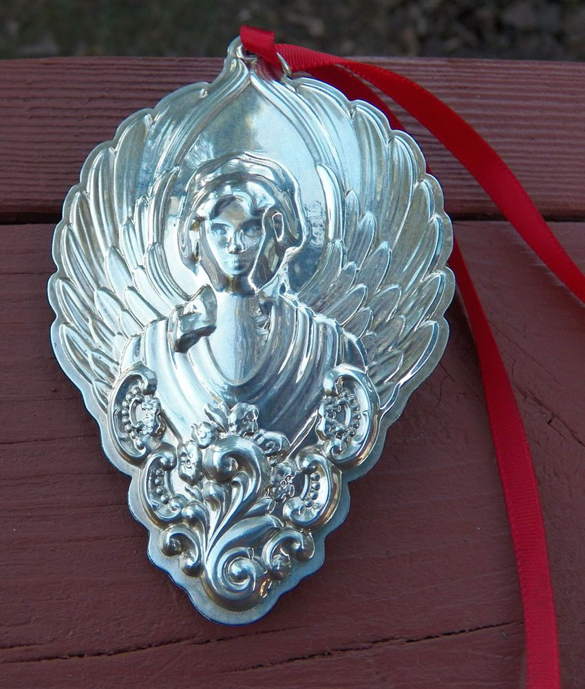 """2003 Wallace Sterling Silver 4"""" Tall Grand Baroque Angel EUC"""