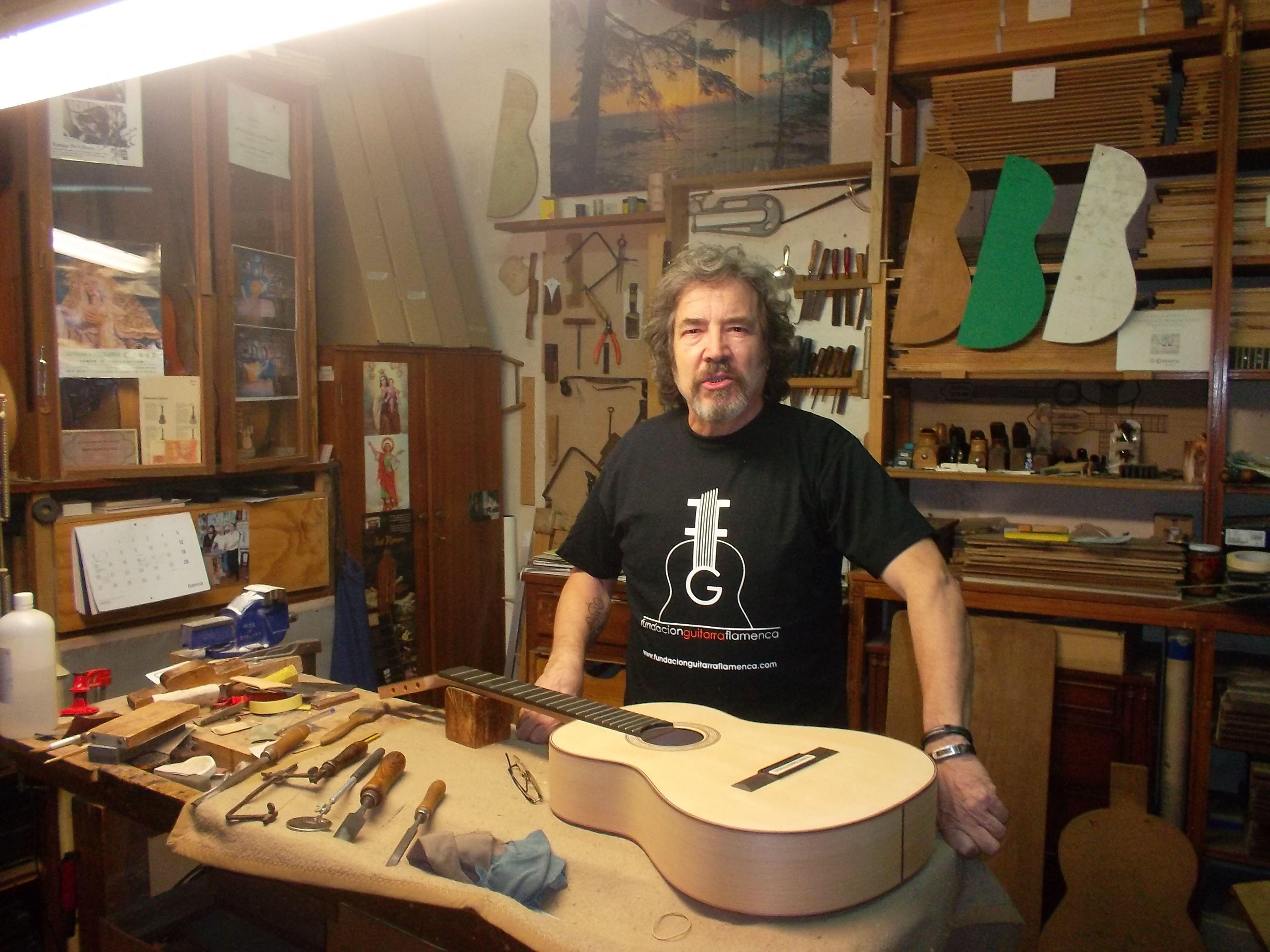 Jose Romero Garrido Guitarrero Artesano Colaborador de la Fundación Guitarra Flamenca.