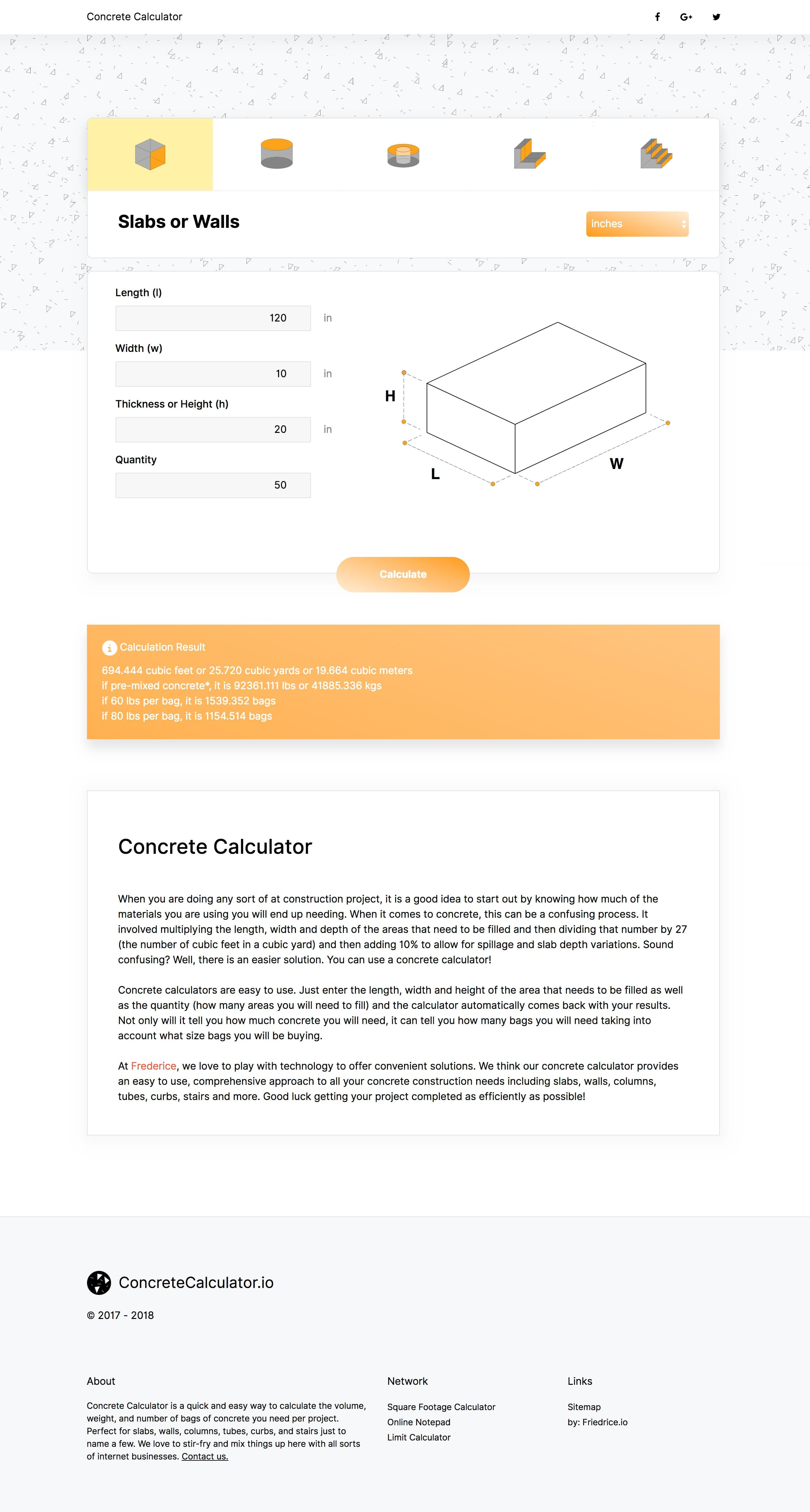 Simple and useful One Page web app to help you calculate the
