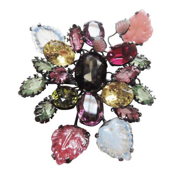 Vintage Countess Cis Zoltowska Floral Brooch/Pin Designer