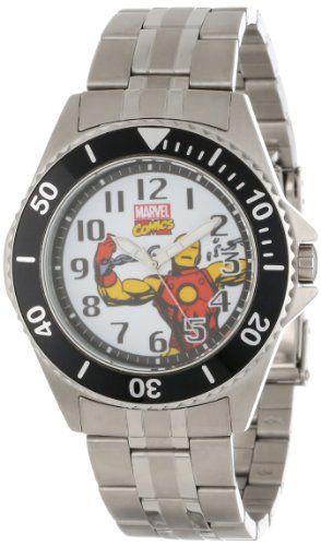 Marvel Comics Men's W000525 Iron Man Honor Stainless Steel Bracelet Watch -- #NoveltyWatchesGiftIdeas