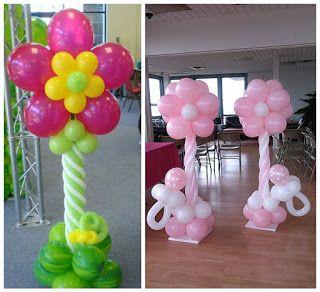 Aprende c mo hacer columnas de flores con globos para - Como decorar columnas ...