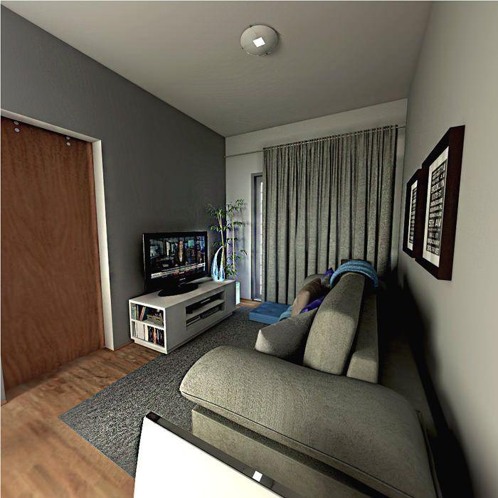 sala cortina cinza - Pesquisa Google