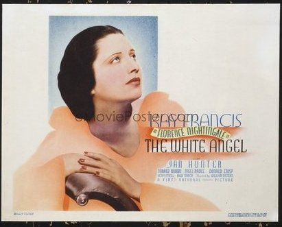Lot #: 1376 WHITE ANGEL title lobby card '36 angelic nurse Kay Francis!