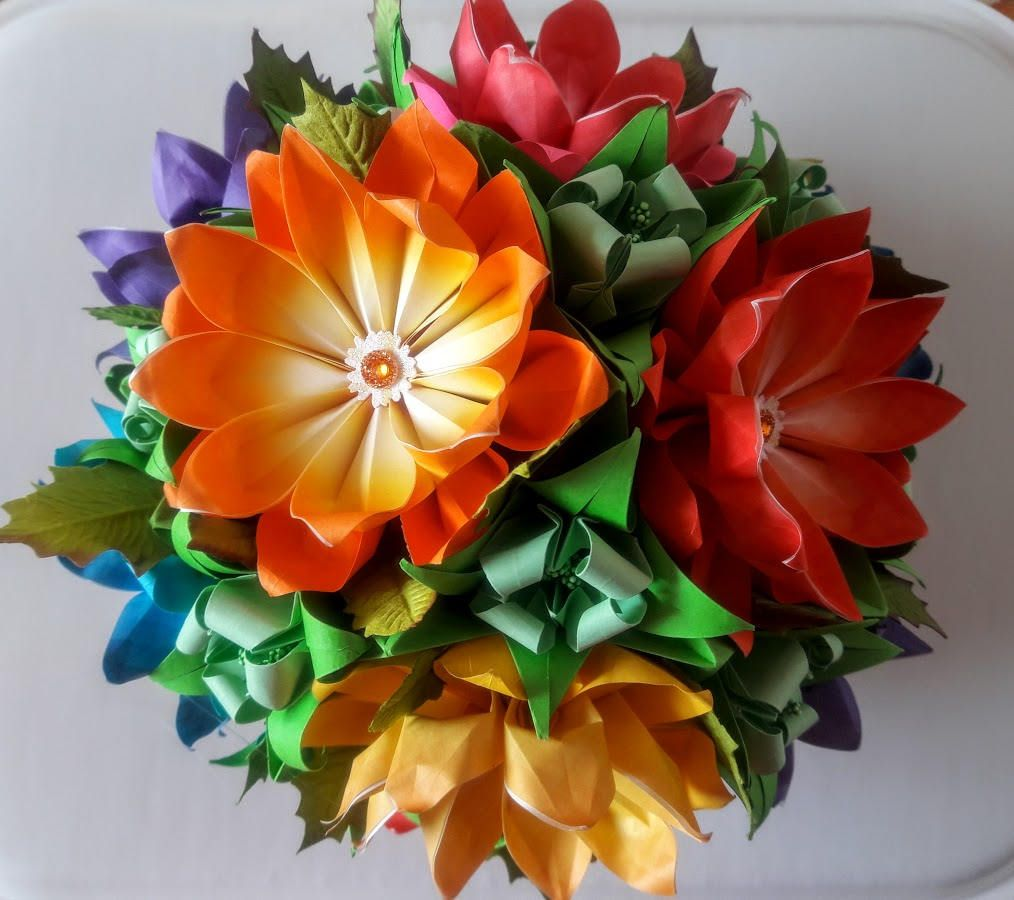 3d Origami Flower Ball 3 Flower Ball 3d Origami And Origami