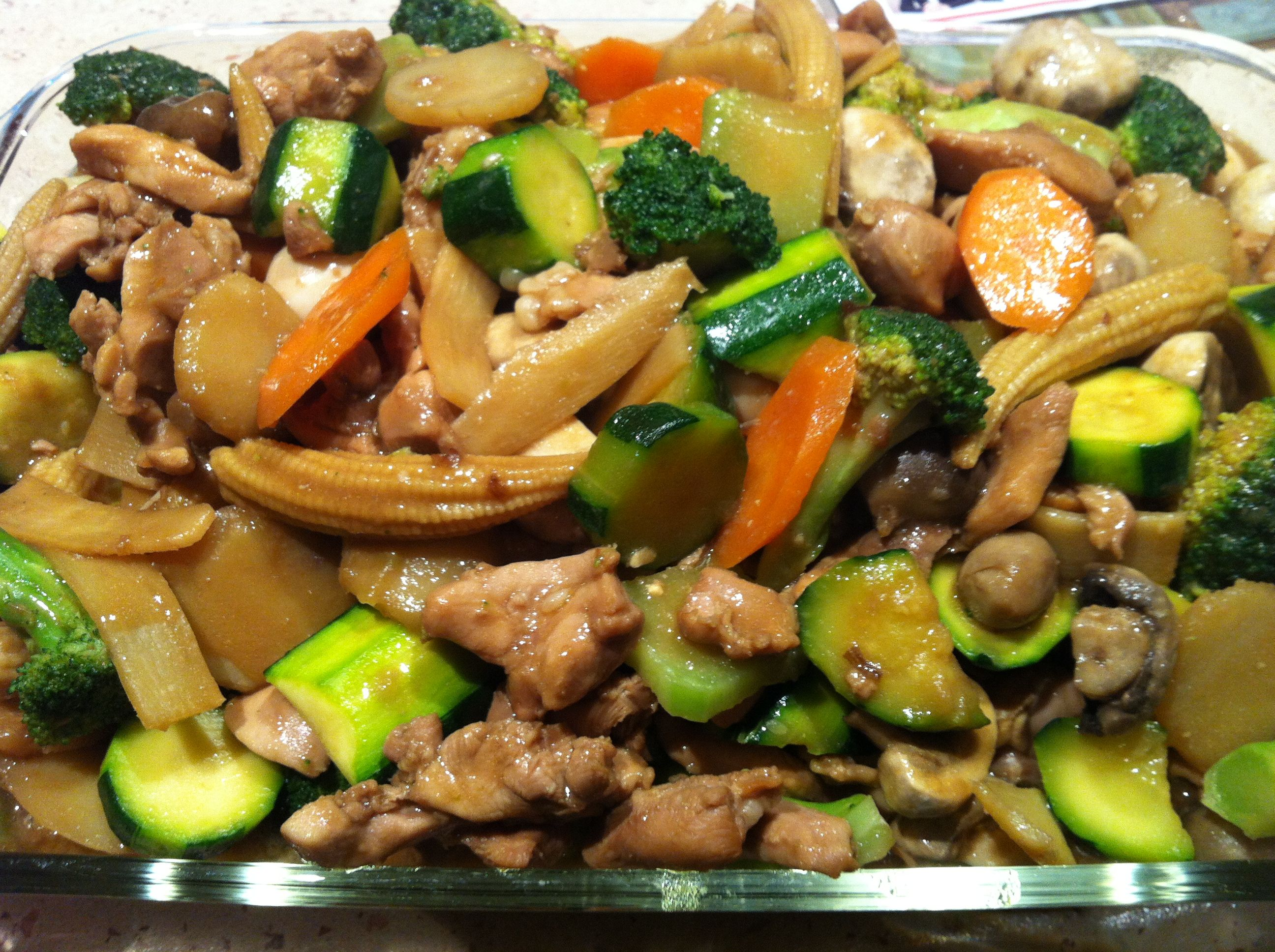 Chinese Chicken And Vegetables Thigh Fillets Marinated In -5658