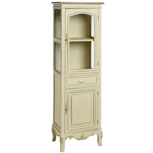 shabby chic french style country tall display cabinet with cupboard full range of matching