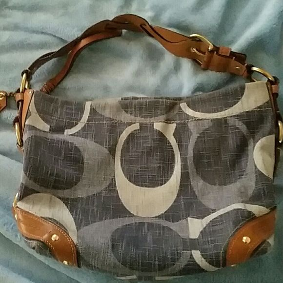 Coach Handbag Fairly Old With Braided Belt Strap Hardly Ever Used After Ing It At Least 10 Years Ago Bags Shoulder