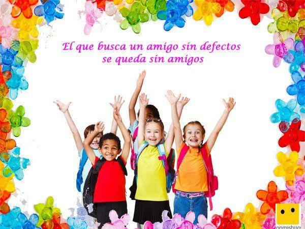 Amigos En Grupo Frases De Amor Para Ninos Preescolar Pinterest