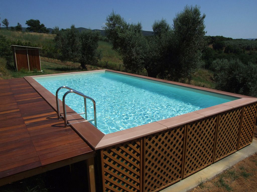 aufstellpool mit au enverkleidung auch f r hanglagen geeignet da jardinero pools whirlpools. Black Bedroom Furniture Sets. Home Design Ideas