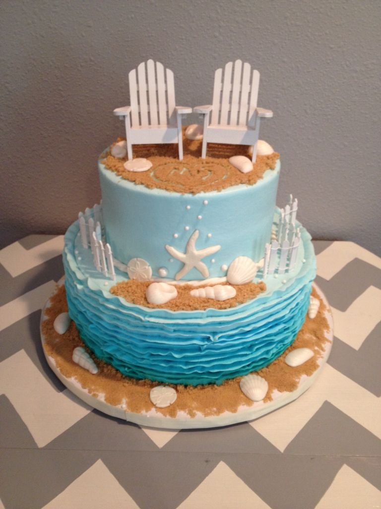 beach themed bridal shower cake made by teresa lynn cakes llc beach themed cakes themed