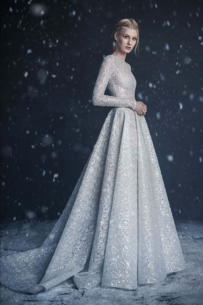 Paolo Sebastian 2016 Autumn Winter Couture Wedding Dress Collection Snow Maiden See The