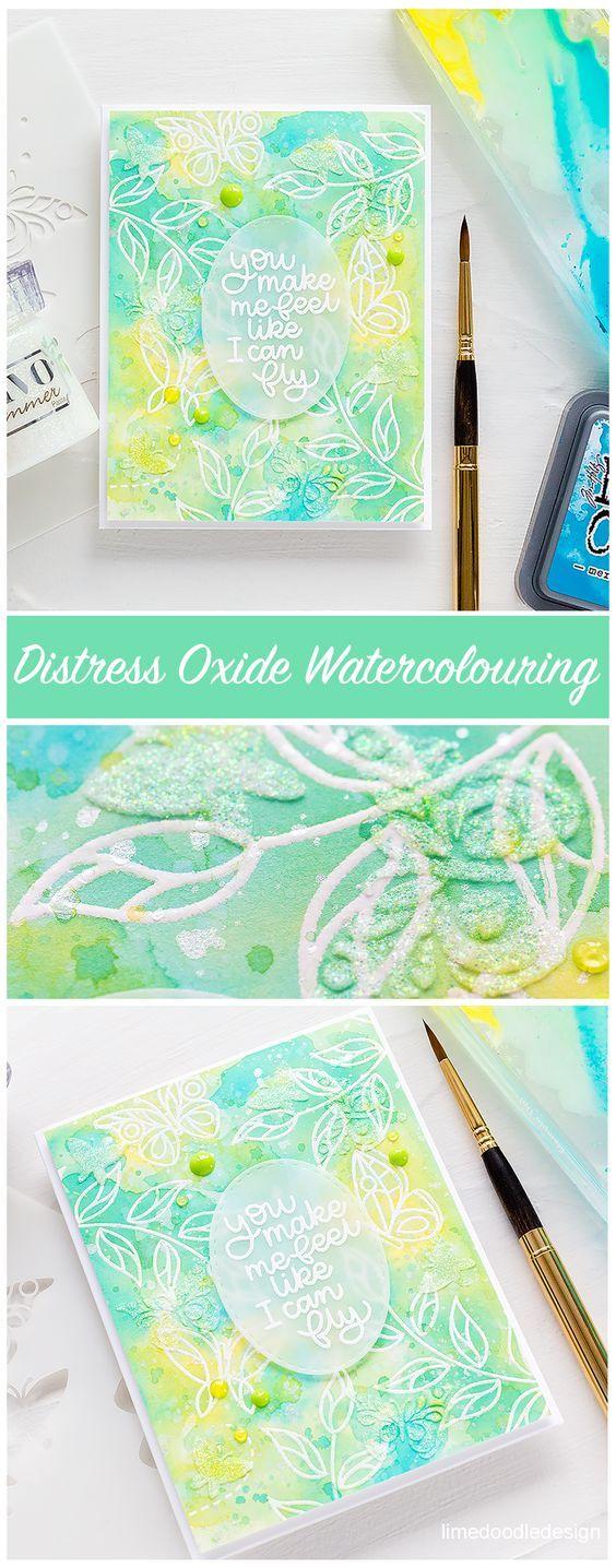 Distress Oxide Watercolour Emboss Resist