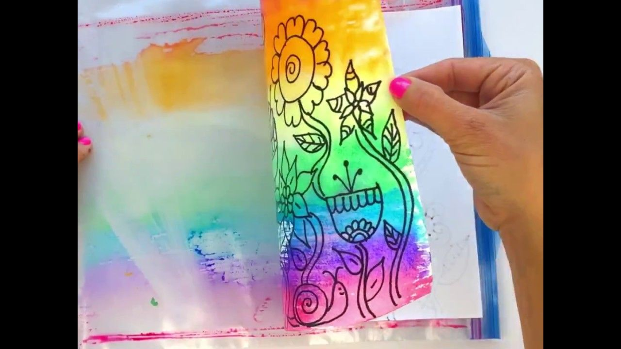 Watercolor Painting With Markers Arts And Crafts For Kids Fun