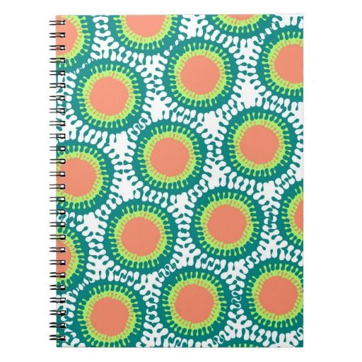 Splashes in Teal notebook