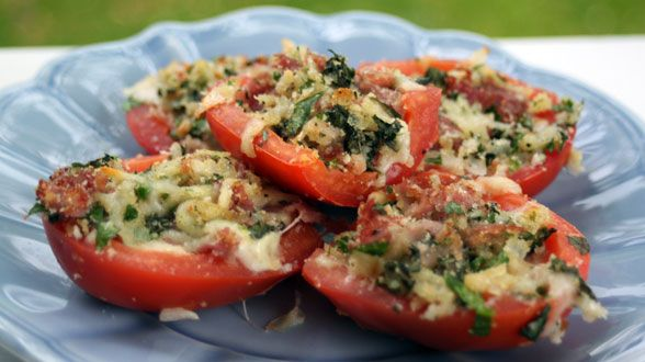 Italian Poppers: Tomatoes filled with Melted mozzarella ...