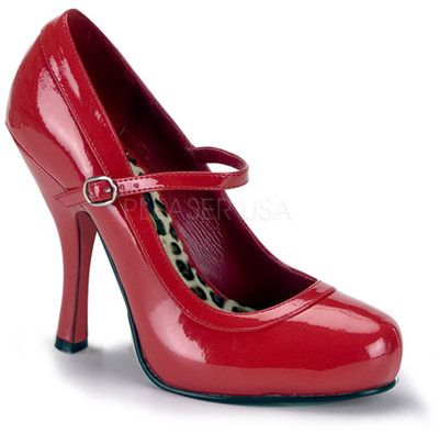 PRE-ORDER**Red Pretty Patent Leather Buckle Shoes-6-12 - Polyvore