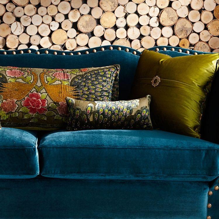 Santiago Peacock Pillow Set Sage Peacock Pillows In 2020 Moroccan Decor Living Room Peacock Living Room Peacock Pillow #peacock #decor #living #room
